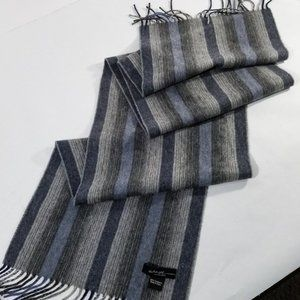 Saks Fifth Avenue 100% Cashmere Soft Striped Scarf